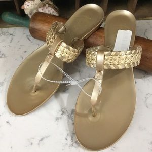 Jack Rogers Womens Tinsley Gold Jelly Sandals 8M